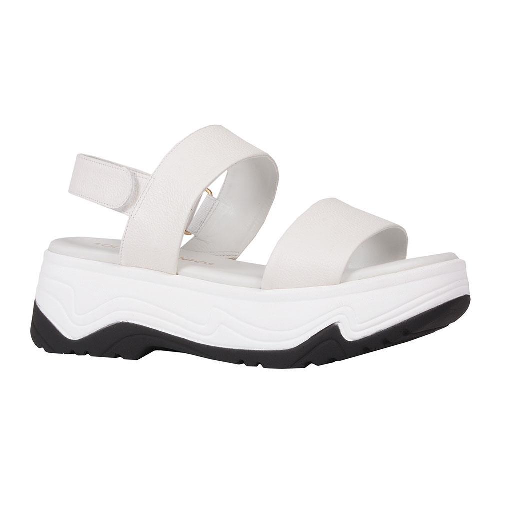 Sandália flatform branca V19
