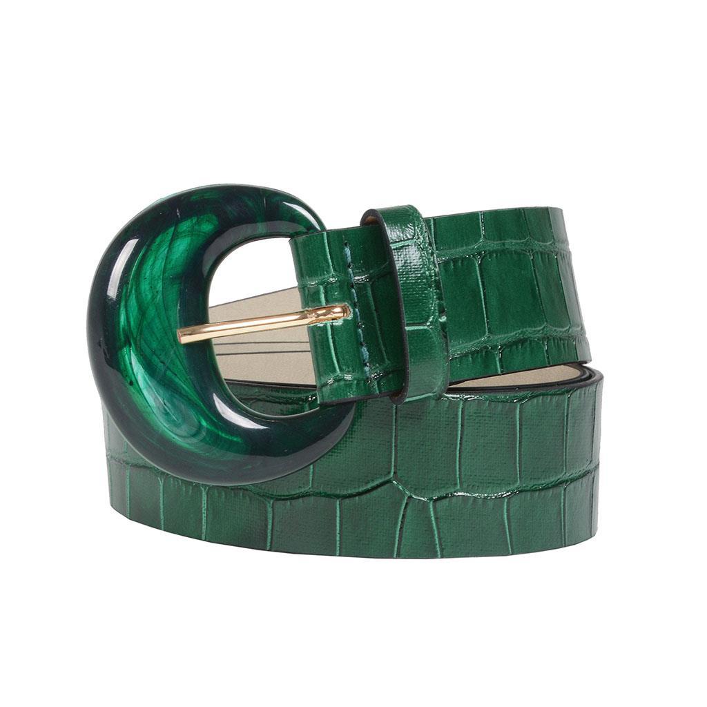 Cinto croco verde I19