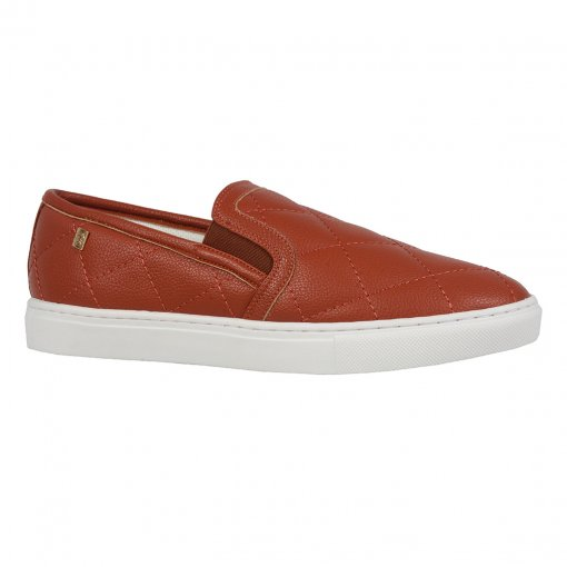 Tênis slip on matelassê terracota I19