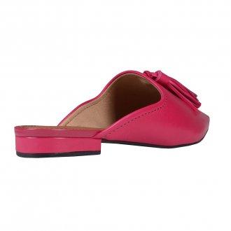 Mule Couro Pink com Barbicacho I20 3