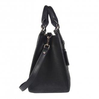 Bolsa Preta com Bag Charm  3