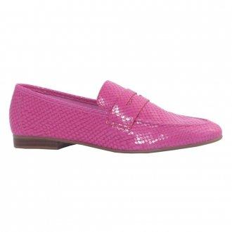 Loafer Couro Snake Rosa V21