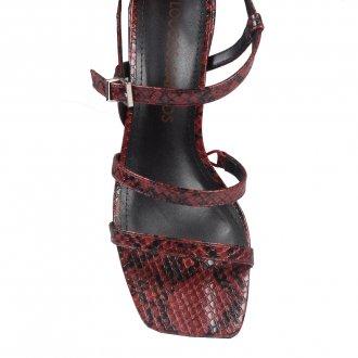 Sandália Tiras Cobra Vermelha I20 4