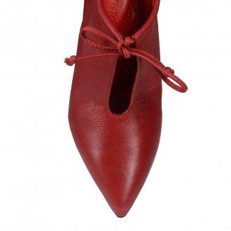 Ankle Boot Couro Vermelho I20 4