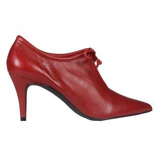 Ankle Boot Couro Vermelho I20 2