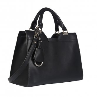 Bolsa Preta com Bag Charm  2