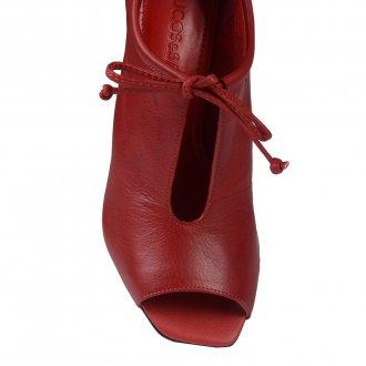 Open Boot Couro Vermelho I20 4