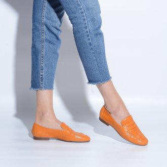 Loafer Couro Snake Curry I21 2