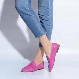 Loafer Couro Snake Rosa V21 2
