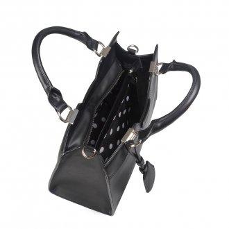 Bolsa Preta com Bag Charm  7