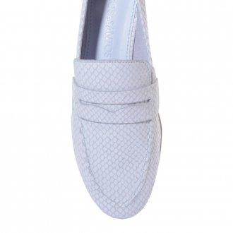 Loafer Couro Snake Light Blue V21 3