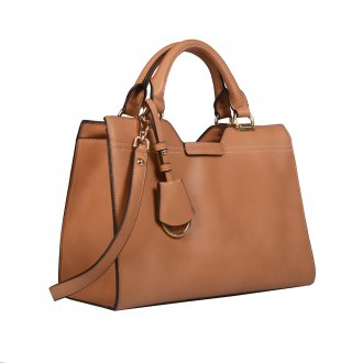 Bolsa Natural com Bag Charm  3