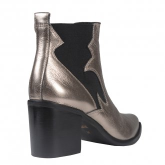 Bota Cano Curto Country Metalizado Pewter I20 3