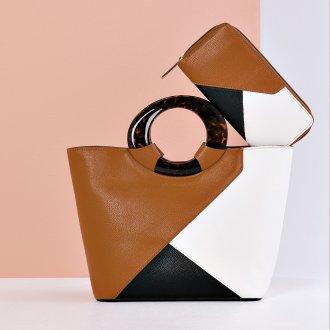 Bolsa Estruturada com Recortes Geométricos Multicolor I20 4