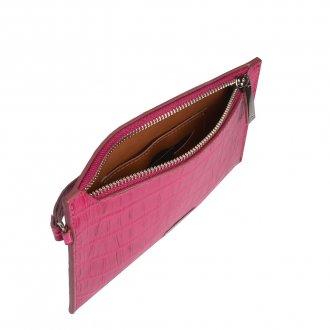 Carteira Croco Pink com Alça de Mão I20 3