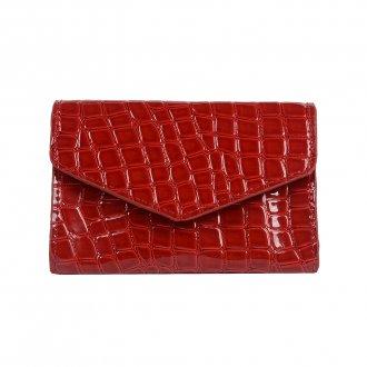Imagem - Carteira Pequena Vermelha com Porta-Cartão V20