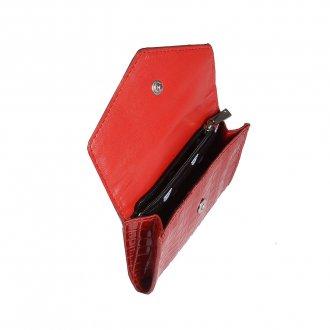 Carteira Pequena Vermelha com Porta-Cartão V20 2