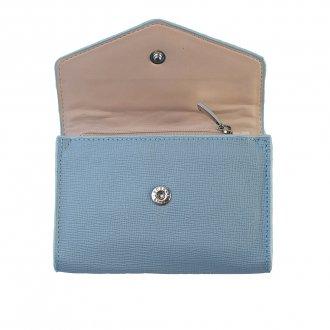 Carteira Pequena Light Blue com Porta-Cartão V20 3