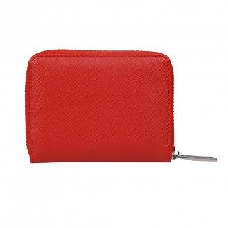 Carteira Pequena Vermelha com Zíper V20 2
