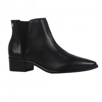 Imagem - Ankle boot couro preta