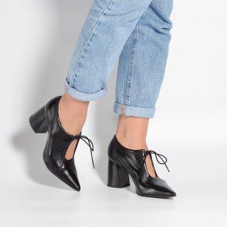 Ankle Boot Couro Preto I21 2