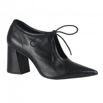 Imagem - Ankle Boot Couro Preto I21