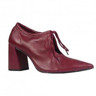 Imagem - Ankle Boot Couro Vinho I21