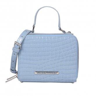 Imagem - Bolsa Box Tiracolo Verniz Croco Light Blue V20