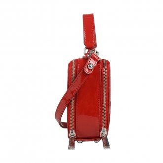 Bolsa Box Tiracolo Verniz Vermelho V20 3