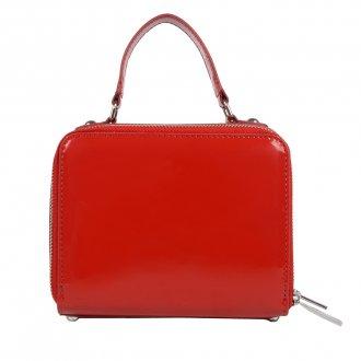 Bolsa Box Tiracolo Verniz Vermelho V20 4