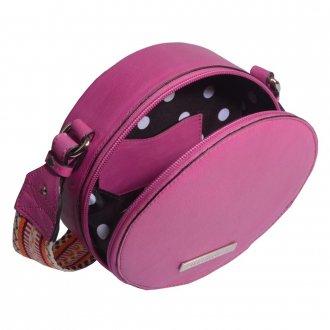 Bolsa Box Couro Rosa Chiclete V21 4
