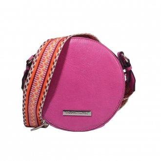 Bolsa Box Couro Rosa Chiclete V21