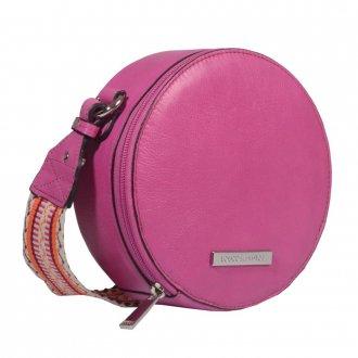 Bolsa Box Couro Rosa Chiclete V21 3