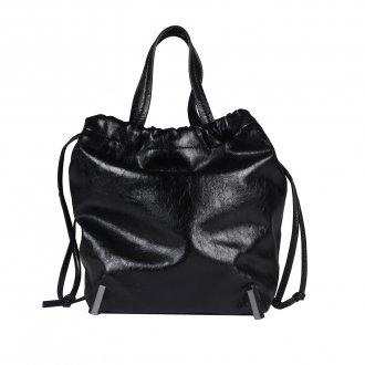 Bolsa Saco Preta com Alça de Mão 4