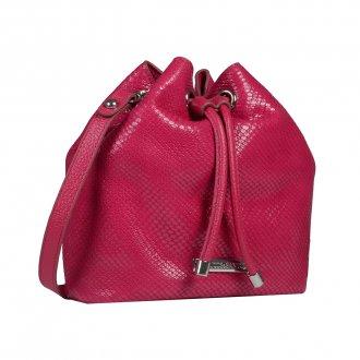 Bolsa Saco Couro Pink I20 2