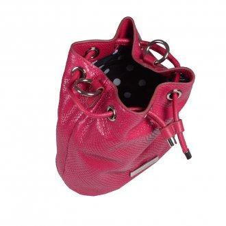 Bolsa Saco Couro Pink I20 3