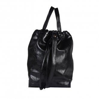 Bolsa Saco Preta com Alça de Mão 3