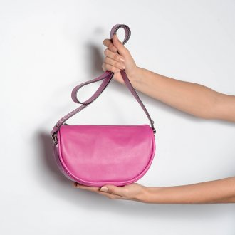 Bolsa Tiracolo Rosa Chiclete V21  6