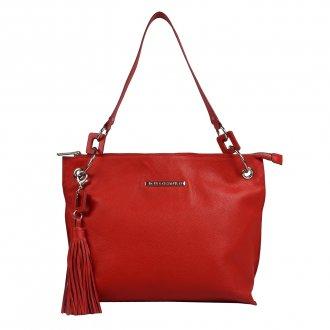 Imagem - Bolsa Couro vermelha com Barbicacho V20