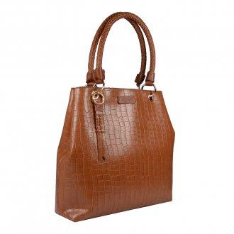 Bolsa Croco Âmbar com Bag Charm V20 2