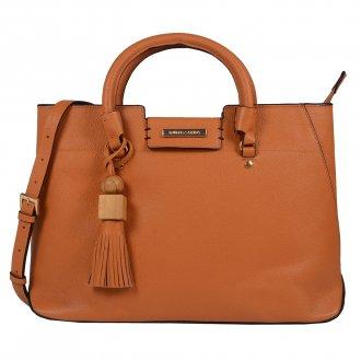 Imagem - Bolsa Estruturada Couro Whisky com Bag Charm V20