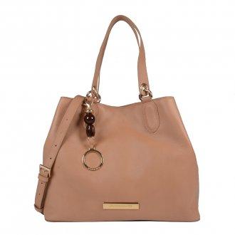 Imagem - Bolsa Couro Natural com Bag Charm V20