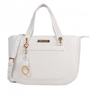 Imagem - Bolsa Estruturada Branca com Bag Charm V20