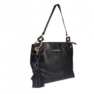 Bolsa de Ombro Couro Preto com Bag Charm I20 2