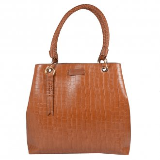 Imagem - Bolsa Croco Ambar com Bag Charm V20