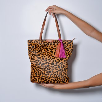 Bolsa Shopping Pelo Animal Print I21 2