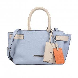 Imagem - Bolsa Bicolor Cotton Blue/Off White V22