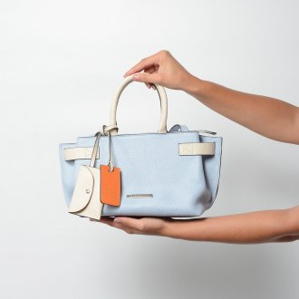 Bolsa Bicolor Cotton Blue/Off White V22 2