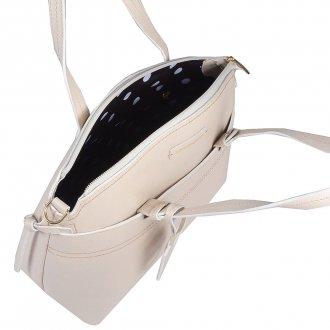 Bolsa em Couro Off White com Bag Charm V20 5