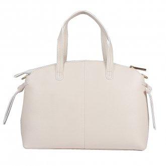 Bolsa em Couro Off White com Bag Charm V20 4